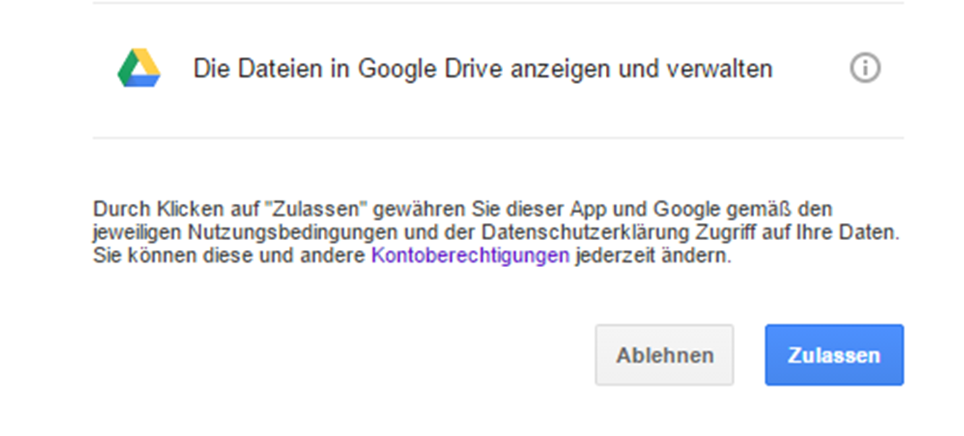 BackWPup access to Google Drive