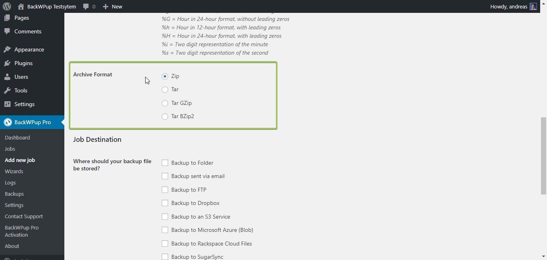 Which Backup Archive Format should I choose? – BackWPup Docs