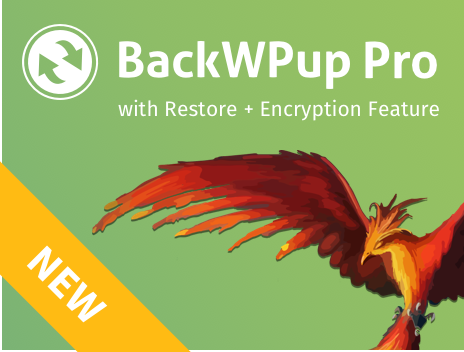 backwpup banner restore & encryption